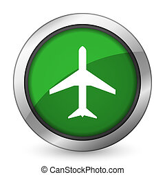 plane green icon airport sign