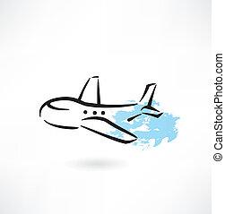 plane grunge icon