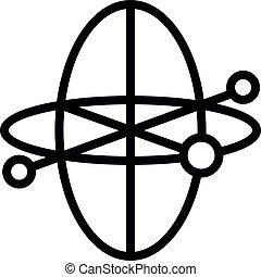 Plane gyroscope icon, outline style