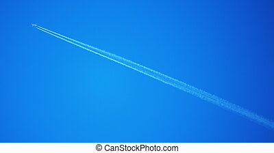 plane high in the sky