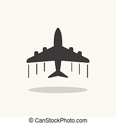 Plane icon. Airplane flat vector illustration