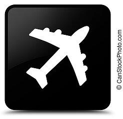 Plane icon black square button