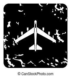 Plane icon, grunge style