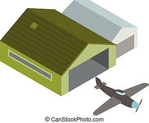 Plane icon, isometric style