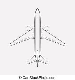 Plane icon line element. illustration of plane icon line isolated on clean background for your web mobile app logo design.