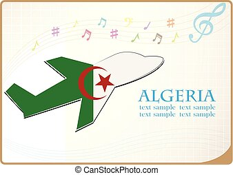 plane icon made from the flag of Algeria