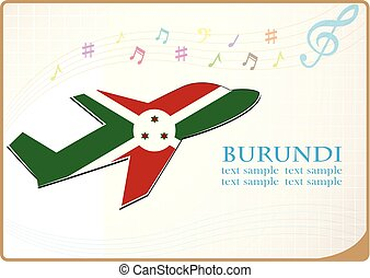 plane icon made from the flag of burundi
