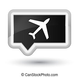 Plane icon prime black banner button