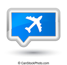 Plane icon prime cyan blue banner button