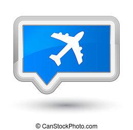 Plane icon prime cyan blue banner button
