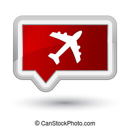 Plane icon prime red banner button