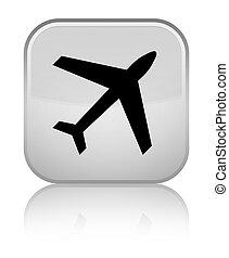 Plane icon special white square button