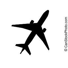 Plane icon vector flat illustration, pictogram isolated on white