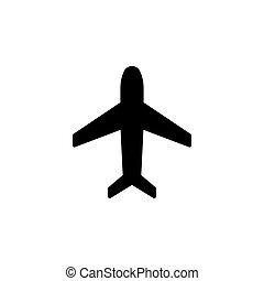 Plane icon. vector illustration black on white background