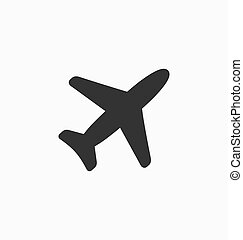 Plane icon vector sign