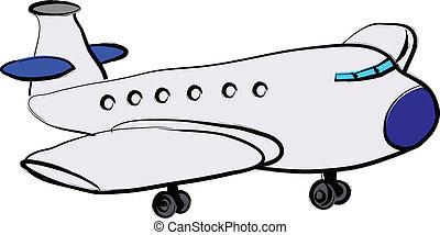 Plane illustration over a white background