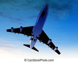 Plane In Flight 2