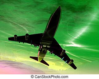Plane In Flight