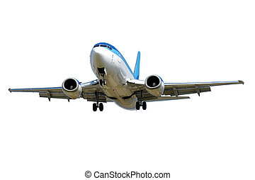 Plane isolated on a white background