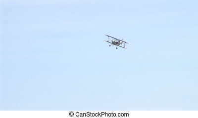 Plane Landing - Christen Eagle II Biplane landing.