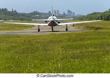 Plane Light Aircraft Take Off Runway