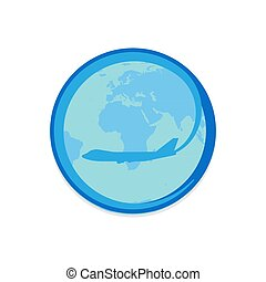 Plane logo vector travel fly design symbol concept. Aviation vacation airline company modern sign. Brand agency corporate website