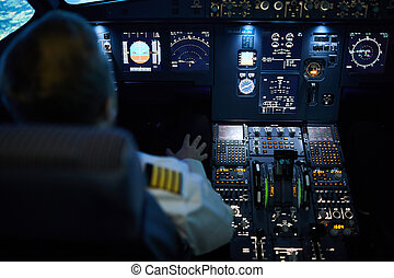 Plane on autopilot
