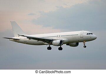 Plane on final approach