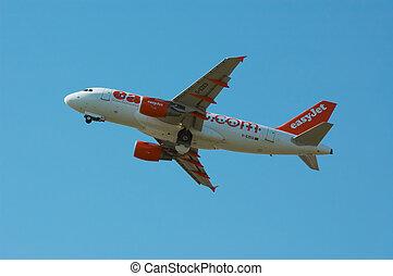 plane on takeof