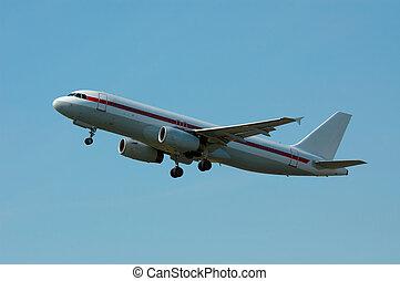 Plane on takeoff - aircraft on takeoff