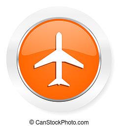 plane orange computer icon