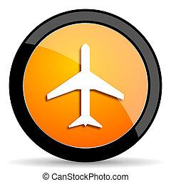 plane orange icon
