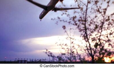 Plane passes overhead