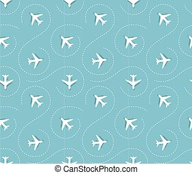 plane pattern - Seamless pattern with white plane vector ...