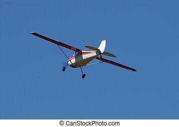 Plane - Cessna plane on blue sky