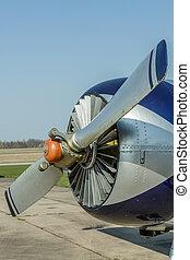 Plane propeller close