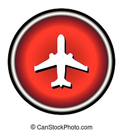 plane red circle modern web icon on