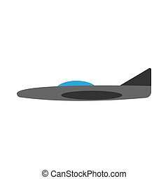 Plane side view transportation travel vector icon. Sky jet aviation illustration vehicle