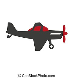 Plane silhouette isolated on white vector flat illustration