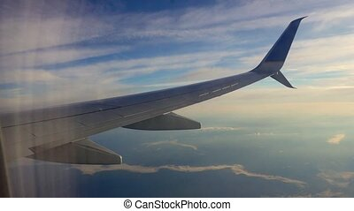 plane sky clouds horizont tourism freedom heaven video