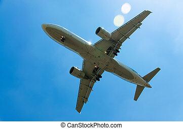 plane  - plane rises into the sky