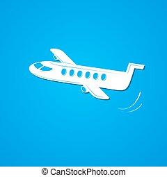 Plane symbol, airplane logo, vector illustration