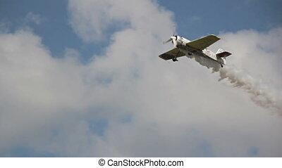 Plane take off preparing to sky-write
