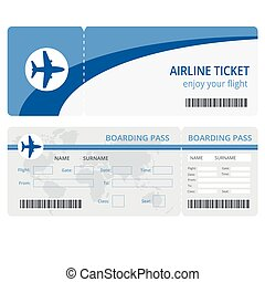 Plane ticket design. Plane ticket vector. Blank plane tickets isolated. Blank plane tickets EPS. Plane ticket vector illustration. Airline boarding pass ticket for traveling by plane