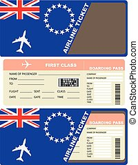 Plane ticket first class in Cook Islands