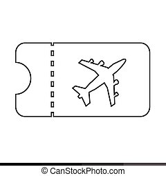 plane ticket icon illustration design