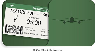 Boarding pass for travel by airplane