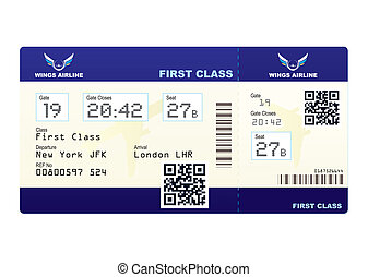 Plane ticket QR code - Fake plane ticket with scan smart...