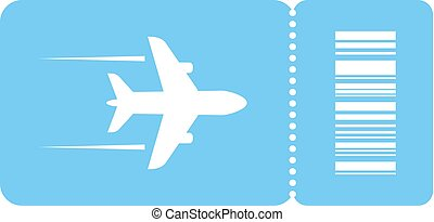 Plane ticket vector icon isolated on white background