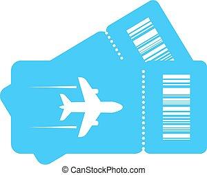 Plane tickets vector icon - Couple plane tickets vector icon